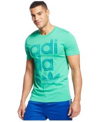 Adidas | Green Logo Graphic T-shirt for Men | Lyst