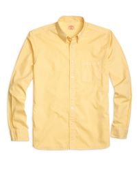 Brooks Brothers - Yellow Oxford Sport Shirt for Men - Lyst