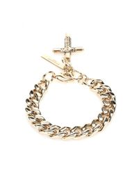 Givenchy - Metallic Cross Chain Bracelet - Lyst