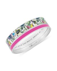 The Sak - Metallic Sakroots Bracelet Set Silvertone Pink and White Peace Bangle Bracelets - Lyst