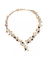 Bernard Delettrez | Metallic Rose Garden Brass Necklace | Lyst