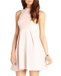 BCBGeneration | Pink Lace Front Dress | Lyst