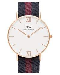 Daniel Wellington - Metallic 'grace London' Mixed Strap Watch - Lyst
