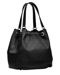 MICHAEL Michael Kors | Black Tasseled Grained-leather Bag | Lyst