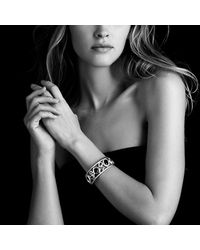 David Yurman | Brown Mosaic Cuff With Diamonds | Lyst