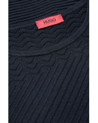 HUGO - Blue Sweater In Cotton Blend: 'sashar' - Lyst