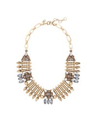 J.Crew | Metallic Mixed Metal Arrowhead Necklace | Lyst