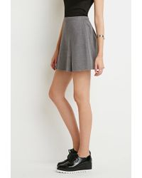Forever 21 - Gray Pleated Mini Skirt - Lyst