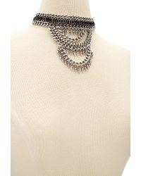 Forever 21 | Metallic Tiered Faux Gemstone Choker | Lyst