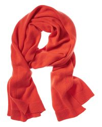 Banana Republic | Orange Todd & Duncan Plaited Cashmere Scarf | Lyst
