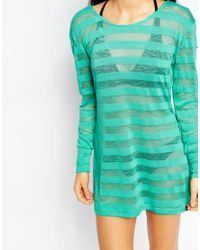 Oakley | Blue Long Sleeve Beach Tunic | Lyst