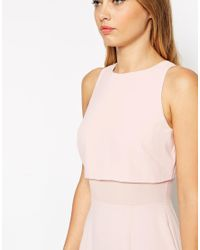 ASOS - Natural Sheer And Solid Soft Pencil Dress - Lyst