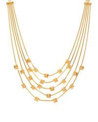 Diane von Furstenberg - Metallic Five-row Cube Station Necklace - Lyst