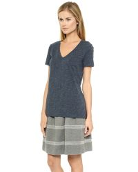 Madewell - Slub V Neck Pocket Tee - Canterbury Blue - Lyst