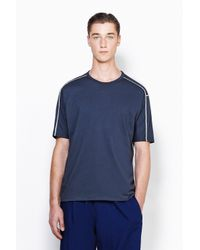 3.1 Phillip Lim - Blue Short Sleeve Dolman T-Shirt With Contrast Stitching for Men - Lyst