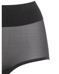 Wolford | Black Sheer Touch Control Brief | Lyst