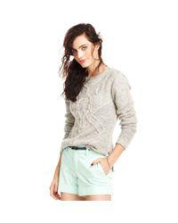 Maison Jules - Gray Maison Jules Sweater Longsleeve Crewneck Cableknit - Lyst