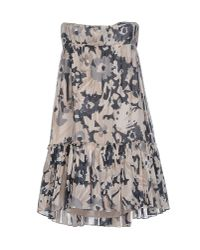 Jucca - Gray Short Dress - Lyst
