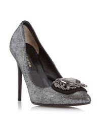 Dune Black | Metallic Billie Embellished Court Shoes | Lyst