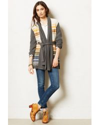 Cynthia Vincent - Green Striped Riva Cardigan - Lyst