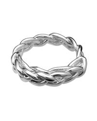 Ali Grace Jewelry | Metallic Sterling Silver Braided Ring | Lyst