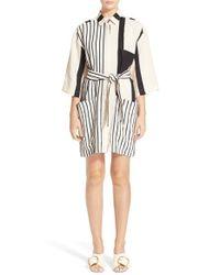 Acne Studios - Black 'cabell' Stripe Shirtdress - Lyst