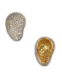Amrapali | Metallic Diamond Curved Stud Earrings | Lyst