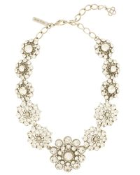 Oscar de la Renta | Metallic Crystal Necklace | Lyst