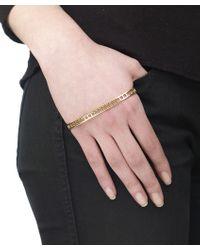 Arme De L'Amour | Metallic Back Hand Square Cuff | Lyst
