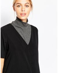 Pieces | Black Roll Neck Collar | Lyst