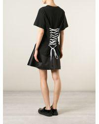 Love Moschino - Black Corset Back T-Shirt - Lyst
