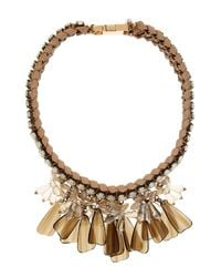 Weekend by Maxmara | Metallic Canasta Necklace | Lyst
