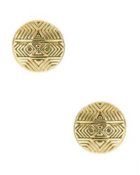 House of Harlow 1960 | Metallic Mosaic Stud Earrings | Lyst