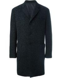 Z Zegna - Gray Single Breasted Coat for Men - Lyst