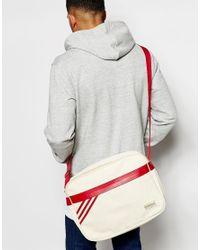 Adidas Originals - Red Retro Messenger Bag for Men - Lyst