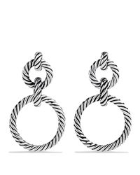 David Yurman | Metallic Cable Classics Doorknocker Earrings With Gold | Lyst