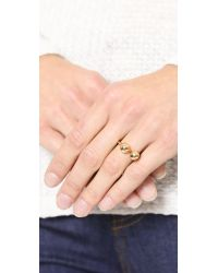 Lady Grey | Metallic Barbell Ring  Gold | Lyst