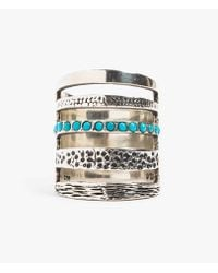 Pamela Love | Metallic Single Turquoise Cage Ring | Lyst