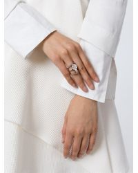 Ledaotto | Metallic Embellished Ring | Lyst