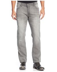 INC International Concepts - Gray Tony Knit Slim-Fit Straight-Leg Jeans for Men - Lyst