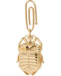 Aurelie Bidermann - Metallic Ruby Pink Sapphire Diamond Scarab Beetle Charm - Lyst