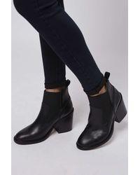 TOPSHOP | Black Moon Elastic Boots | Lyst