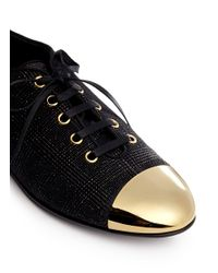 Giuseppe Zanotti - Black 'dalila' Lace Up Shoes - Lyst