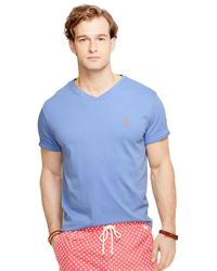 Polo Ralph Lauren | Blue Jersey V-Neck T-Shirt for Men | Lyst