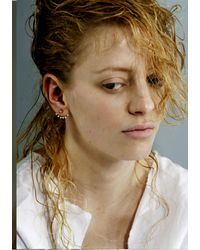 De La Forge | White Aphrodite Large Ball Stud Earrings | Lyst
