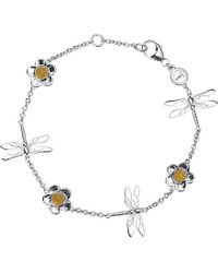 Theo Fennell | Metallic Sterling Silver And Blue Jade Dragonfly Bracelet | Lyst