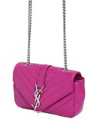 Saint Laurent - Purple Monogram Baby Quilted Leather Bag - Lyst