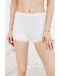 Urban Outfitters - Natural Amber Ribbed Cotton Short - Lyst