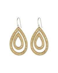 Anna Beck | Metallic Double Teardrop Earrings | Lyst