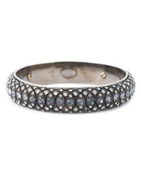 Lanvin | Gray Embellished Bangle | Lyst